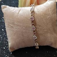 Серебряный браслет с камнями