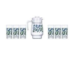Комплект для напитков 7 предметов Luminarc ATROPICAL FOLIAGE P4821