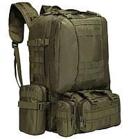 Рюкзак тактический с подсумками ABX A08 50 л Оливковый