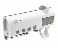 Держатель зубных щеток + дозатор для зубной пасты ABX JX5588