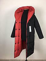 Зимний удлиненная женская куртка пуховик молодежная размеры 46-52