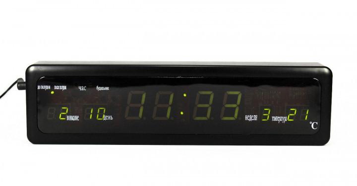 Часы настольные с зеленой LED подсветкой HLV CX-808 Black