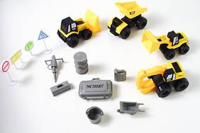 Набор машинок стройтехники ABX 007С Желтый