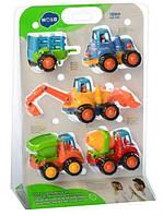 Набор машинок стройтехники 4 шт Limo Toy 326