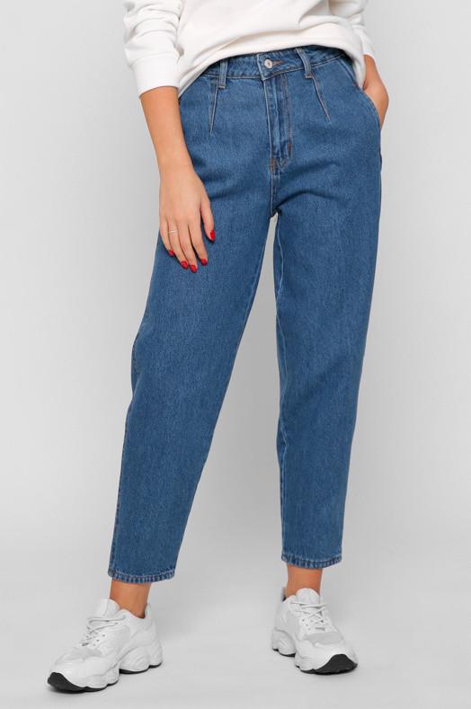 Женские джинсы Мом светло-синие