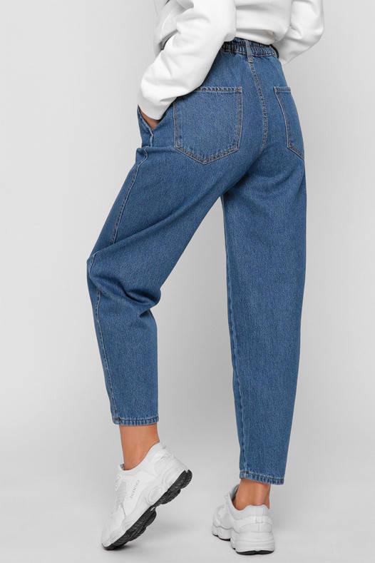 Женские джинсы Мом светло-синие, фото 2