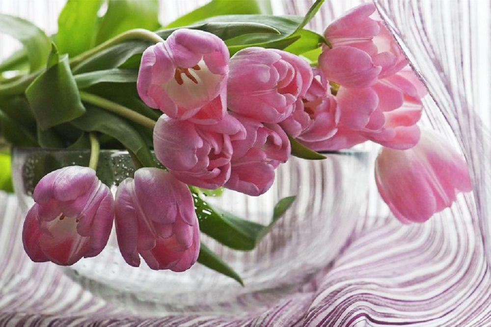 """Набор алмазной вышивки """"Букет розовых тюльпанов"""""""