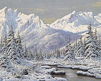 Алмазная вышивка мозаика Чарівний діамант Прекрасный зимний пейзаж КДИ-0499 40х50см 20цветов квадратные полная