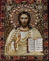 Алмазная вышивка мозаика Чарівний діамант икона Иисус Христос-2 КДИ-0529 40х50см 24цветов квадратные полная