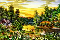Алмазна вишивка, мозаїка Чарівний діамант Літній вечір КДІ-0408 40х60см Худ.Tsyganov Viktor 35цветов