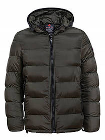 Мужская зимняя короткая куртка с капюшоном