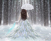 Алмазная вышивка мозаика Чарівний діамант Снежная прогулка КДИ-0538 40х50см  Худ.Titus Boy 24цветов квадратные