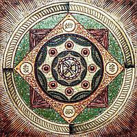 Алмазная вышивка мозаика Чарівний діамант Мандала – Здоровья и долголетия КДИ-0649 40х40см 22цветов квадратные