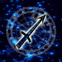 Алмазная вышивка мозаика Чарівний діамант Знак зодиака – Стрелец КДИ-0691 30х30см 18цветов квадратные полная