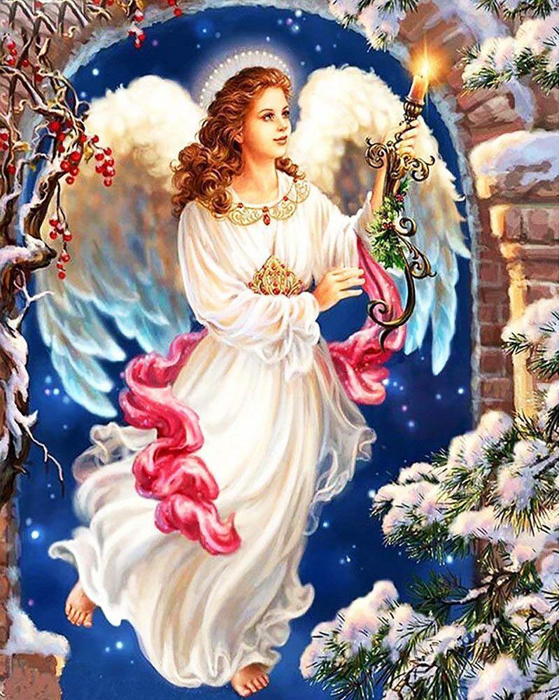 Алмазна вишивка, мозаїка Чарівний діамант Фея – Дух Різдва КДІ-0668 40х50см 27цветов квадратні повна