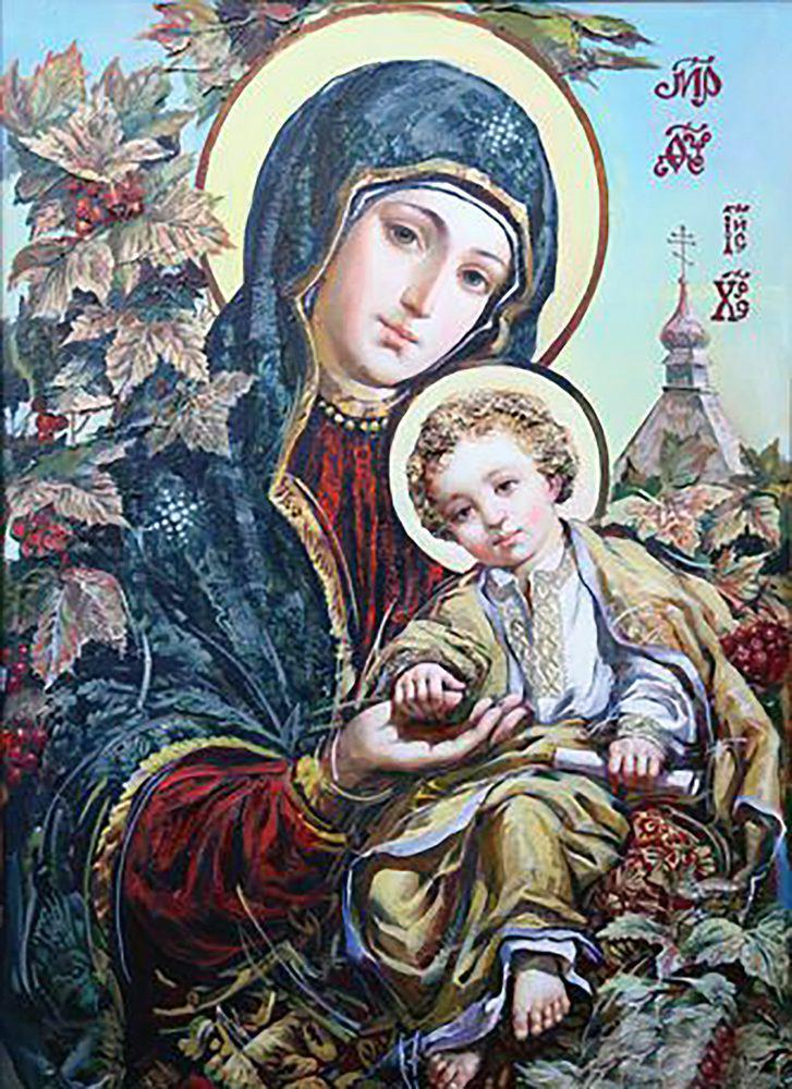 Алмазная вышивка мозаика Чарівний діамант икона Богородица Спаси и Помилуй КДИ-1094 40х55см 27цветов