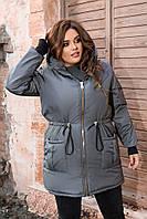 Лаконичная женская парка стильного дизайна, хорошо защищает от холода