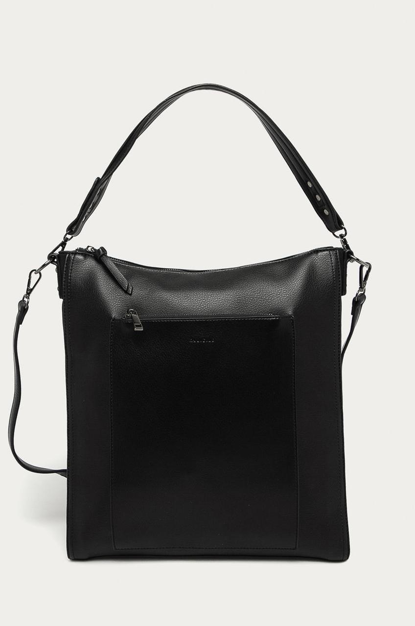Чёрная женская сумочка формата A4 Medicine