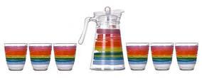 Комплект для напитков 7 предметов Luminarc COLOR PENCIL N0792