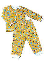 Детская пижама 80, желтый