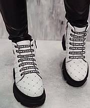Стильные женские ботинки из натуральной кожи на меху 36-41 р, фото 3