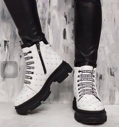 Стильные женские ботинки из натуральной кожи на меху 36-41 р, фото 2