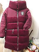 Красивая теплая куртка с искусственным мехом на зиму для девочки интернет магазин