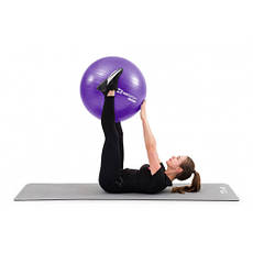 Фітбол, м'яч для фітнесу Hop-Sport 75cm HS-R075YB violet + насос, фото 3