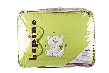 """Комплект детского постельного белья """"Мишка на луне салатовый"""" аппликация, ткань хлопок, фото 2"""