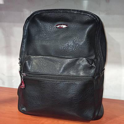 Молодежный женский городской кожаный рюкзак. Модель 16742.