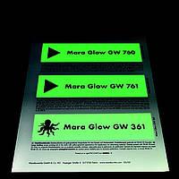 Mara Glow GW Люминесцентная краска для трафаретной печати на основе растворителей.