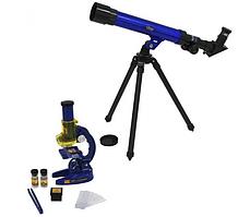 Детский набор 2 в 1 микроскоп, телескоп ABX SK 0014