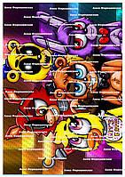 Фнафворлд Аниматроники FNaF World вафельная картинка корж наклейка на торт съедобная пищевая печать круглая