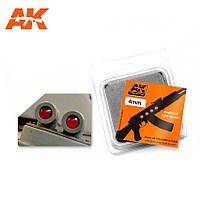 Набор цветных линз для имитации фар, красные 4 мм. AK-INTERACTIVE AK-216