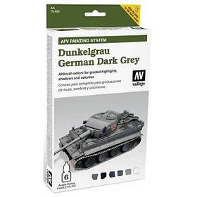 "Набор для цветовой модуляции ""Dunkelgrau German Dark Grey"". VALLEJO 78400"