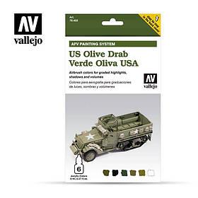 """Набор цветовой модуляции """"US Army Olive Drab"""". VALLEJO 78402"""