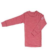Детская термофутболка Norveg Soft из шерсти красное мулине