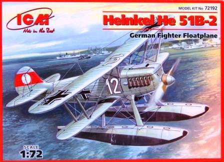 Хейнкель He-51B-2, истребитель-гидроплан. 1/72 ICM 72192 -