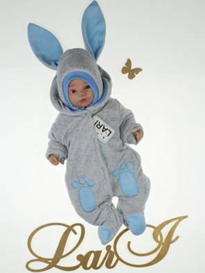 Зимний комплект на выписку для новорожденного мальчика набор Зайка, фото 2