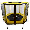 Батут Atleto 140 см шестикутний з сіткою жовтий | Батут Atleto 140 см шестиугольный с сеткой желтый