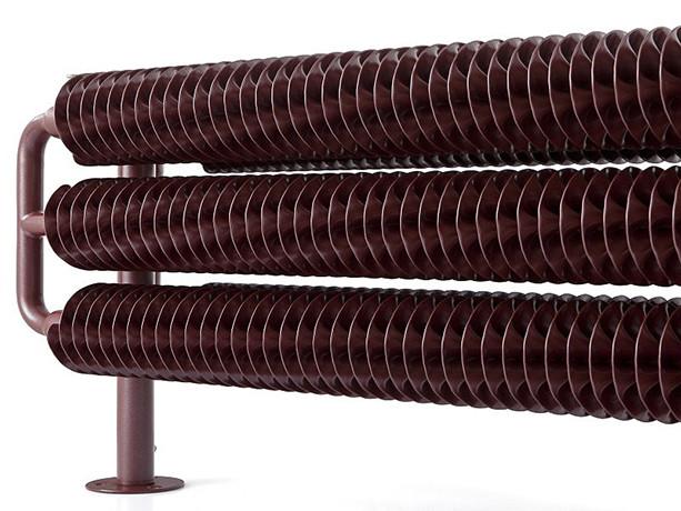 Дизайнерский радиатор (полотенцесушитель) TERMA RIBBON HSD, 290x1540  (1609 W)  RAL 9011