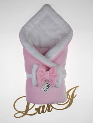 Зимний комплект на выписку для новорожденных девочек набор Бабочка, фото 2