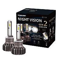 Светодиодные автолампы H27/2 Carlamp Led Night Vision Gen2 Led для авто 5500 K 5000 Lm (NVGH27/2), фото 1