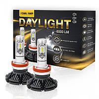 Светодиодные автолампы H4 CARLAMP Day Light Led для авто 6000 Lm 6000 K (DLH4), фото 1