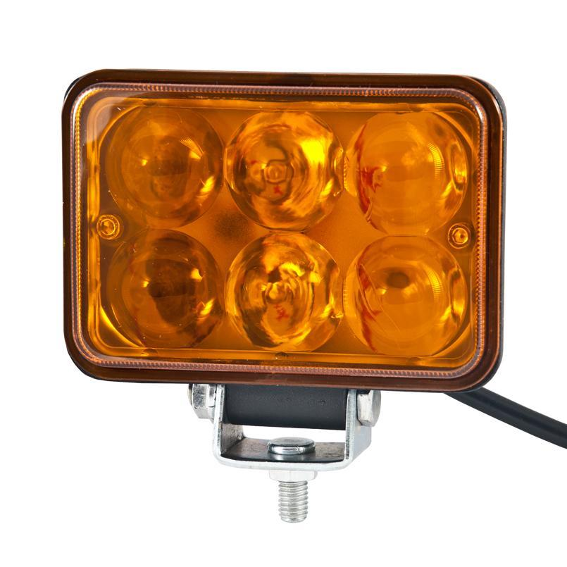 Доп LED фара BELAUTO BOL0603LA 1200Лм (точечный янтарный)