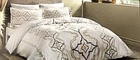 Комплект постельного белья ТАС Ginza сатин семейное кремовое, фото 1