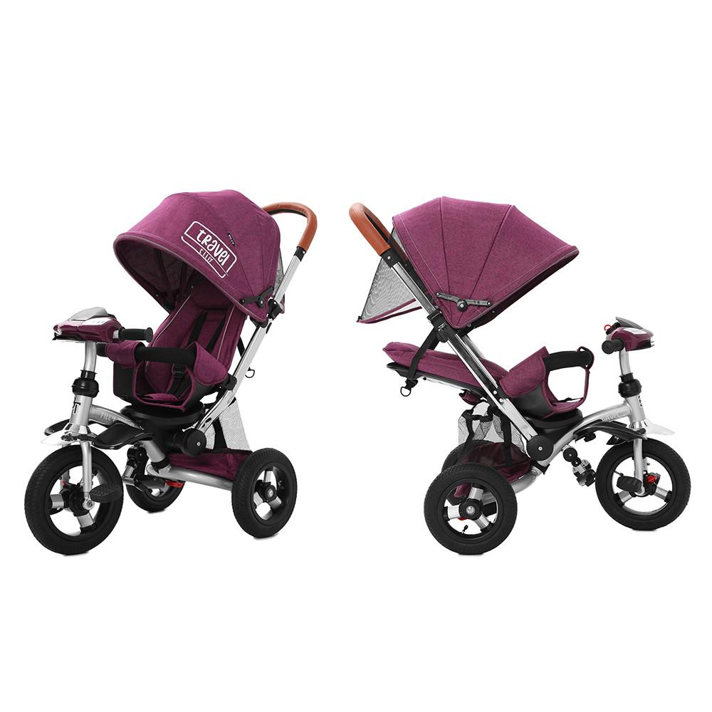 Велосипед триколісний TILLY TRAVEL T-387 Фіолетовий льон/1/