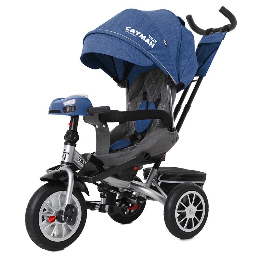 Велосипед триколісний TILLY CAYMAN з пультом і посиленою рамою T-381/4 Синій льон /1/