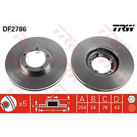 Тормозные диски для Ford Transit 2.5 D/TD 1989-2000. Передние. Новые. R14. Форд Транзит.