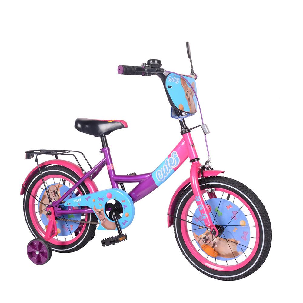 "Велосипед TILLY Cute 16"" T-216217/1 pink+purple /1/"